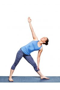 Triangle Trikonasana Modification Variation